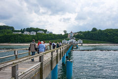 Selliner Seebrücke, diving gondola Stock Photography