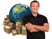 Selling around the world Royalty Free Stock Image