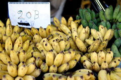 Selling bananas Stock Images