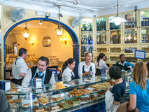 Selling the Belem pastries Stock Image