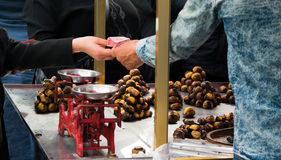 Selling Chestnut Royalty Free Stock Photography