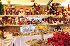 Selling Christmas toys Stock Photo