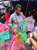 Selling Colorful Bags Stock Photo
