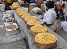 Selling Corn in Ecuador Stock Images