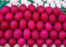 Selling eggs at rural market. Salt eggs for sale at rural market in Manila, Philippines Stock Photography
