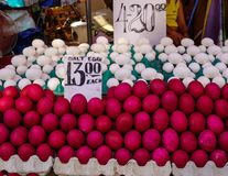 Selling eggs at rural market. Selling salt eggs at rural market in Manila, Philippines Royalty Free Stock Image