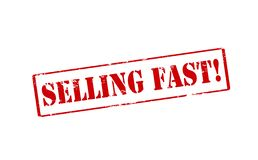 Selling fast. Rubber stamp with text selling fast inside,  illustration Royalty Free Stock Image