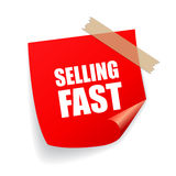 Selling fast sticker Royalty Free Stock Image