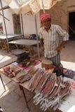 Selling fish in Yemen Royalty Free Stock Photo