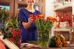 Selling flowers Stock Image