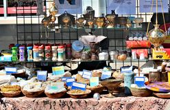 Selling Frankincense. Street vendor selling frankincense during the 2012 Annual Street Fair in Maspeth New York Royalty Free Stock Image