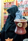 Selling Frankincense. A woman selling frankincense at the Souq Al Hasn, Salalah, Dhofar Governorate, Sultanate of Oman Stock Photos