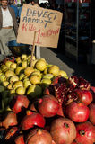 Selling fresh fruits Stock Photography