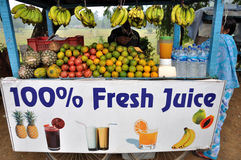 Selling Fresh Juice Stock Images