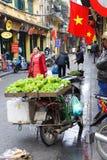 Selling fresh vegetables in Hanoi Stock Photo