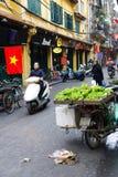 Selling fresh vegetables in Hanoi Royalty Free Stock Photo