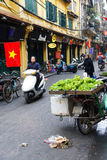 Selling fresh vegetables in Hanoi Royalty Free Stock Photography