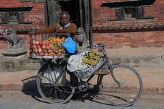 Selling fruit in Patan