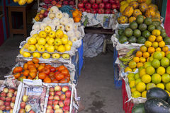 Selling fruit on the street Royalty Free Stock Photography