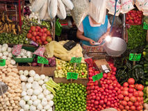 Selling fruit and vegetables Stock Image