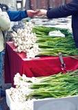 Selling garlic Royalty Free Stock Photography