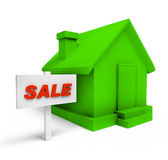 Selling green house Stock Images