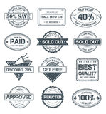 Selling Grunge Stamps royalty free illustration