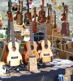 Selling Guitars and other String Instruments Stock Photos