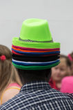 Selling hats Royalty Free Stock Images
