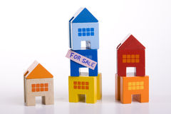 Selling houses Royalty Free Stock Images