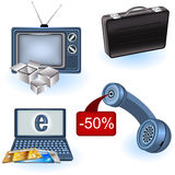 Selling icons Stock Image