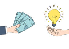 Selling idea for money Royalty Free Stock Photography