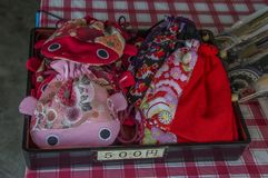 Selling Japanese Purses stock photography