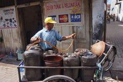 Selling kerosene Stock Photos