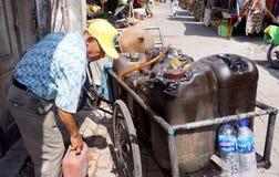 Selling kerosene Royalty Free Stock Images