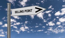 Selling point traffic sign