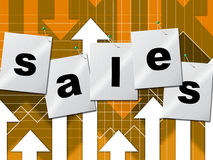 Selling Sales Shows Business Graph And Market Stock Image