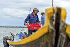 Local Asian fish market, Hoi An, Vietnam Royalty Free Stock Image