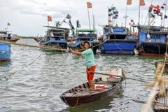 Selling sea food, Hoi An, Vietnam Stock Photos