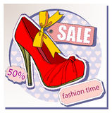 Selling shoes Royalty Free Stock Image