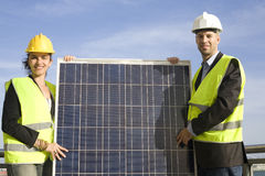Selling solar energy Stock Photos