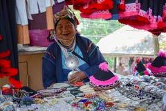 Selling souvenir at Doi tung. Chiangrai, Thailand - April 14, 2014: People are selling souvenir at Doi tung, Chiangrai, Thailand Stock Image