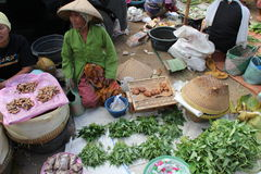 Selling Spices and Herbs at a Traditional Market in Lombok Indonesia Royalty Free Stock Images