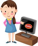 Selling television Royalty Free Stock Photos