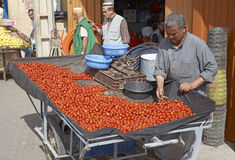 Selling Tomatoes Stock Photos