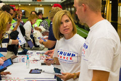 Selling Trump Shirts at Lancaster Rally royalty free stock photos