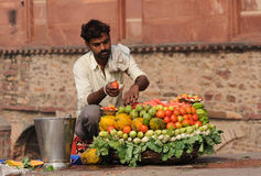 Selling vegetables Stock Photos
