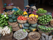 Selling vegetables in Vietnam Royalty Free Stock Photos