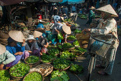 Selling vegetables in Vietnam Royalty Free Stock Photography