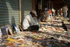 Selllers del libro a Nuova Delhi Fotografia Stock Libera da Diritti